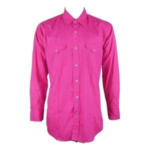 4a0cf19d5d Sheplers Shirts - Sheplers Mens Sz L Pink Western Pearl Snap Button